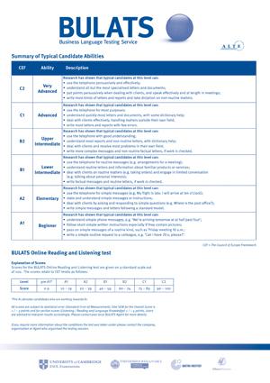 Bulats writing assessment 3rd